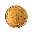 1960 Chile Gold 100 Pesos BU