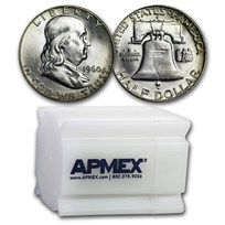 1960-D Franklin Half Dollar 20-Coin Roll BU
