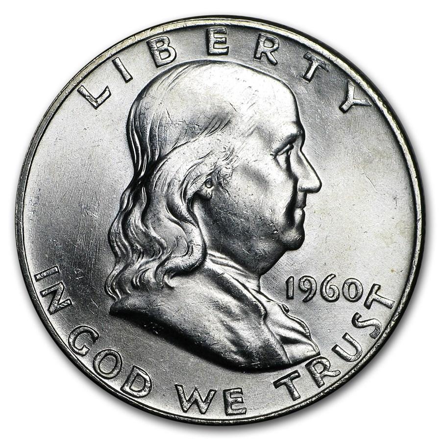 1960-D Franklin Half Dollar BU