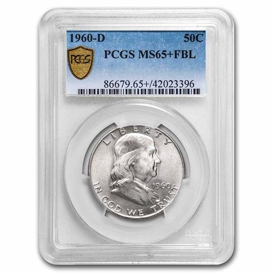 1960-D Franklin Half Dollar MS-65+ PCGS (FBL)