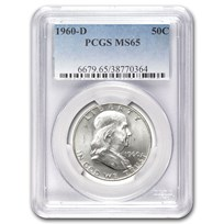 1960-D Franklin Half Dollar MS-65 PCGS