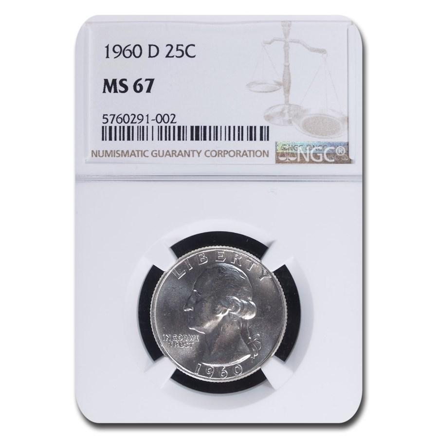 1960-D Washington Quarter MS-67 NGC