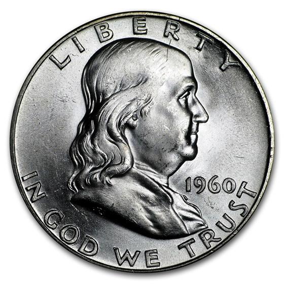 1960 Franklin Half Dollar BU