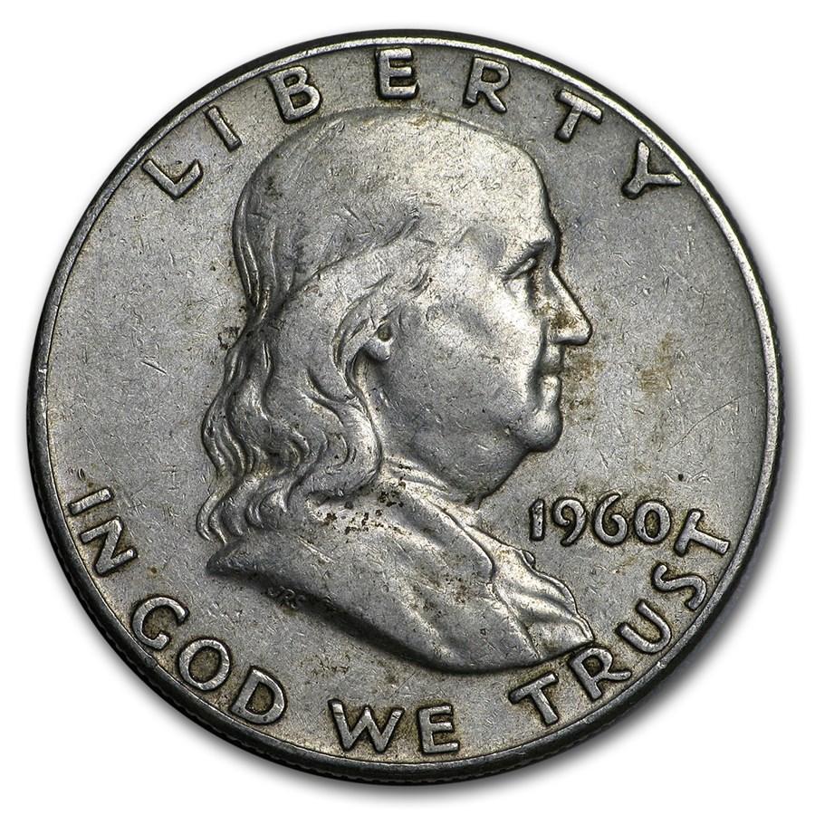1960 Franklin Half Dollar Fine/AU