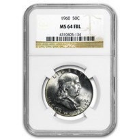 1960 Franklin Half Dollar MS-64 NGC (FBL)