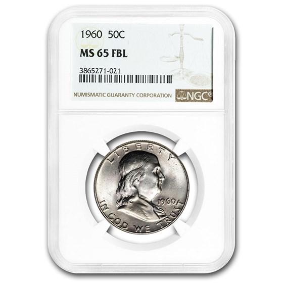 1960 Franklin Half Dollar MS-65 NGC (FBL)