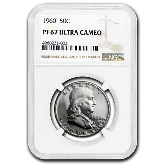1960 Franklin Half Dollar PF-67 UCAM NGC