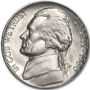 1960 Jefferson Nickel BU