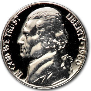 1960 Jefferson Nickel Gem Proof