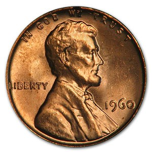 1960 Lincoln Cent Large Date BU (Red)