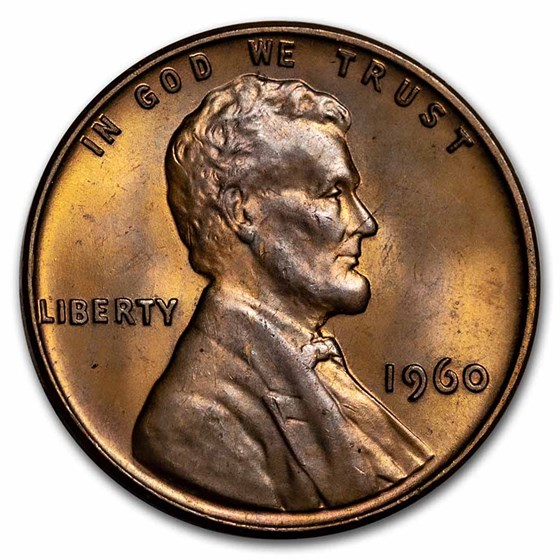 1960 Lincoln Cent Small Date AU