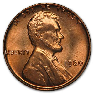 1960 Lincoln Cent Small Date BU