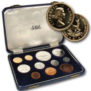 1960 South Africa 11-Coin Gold Proof Set