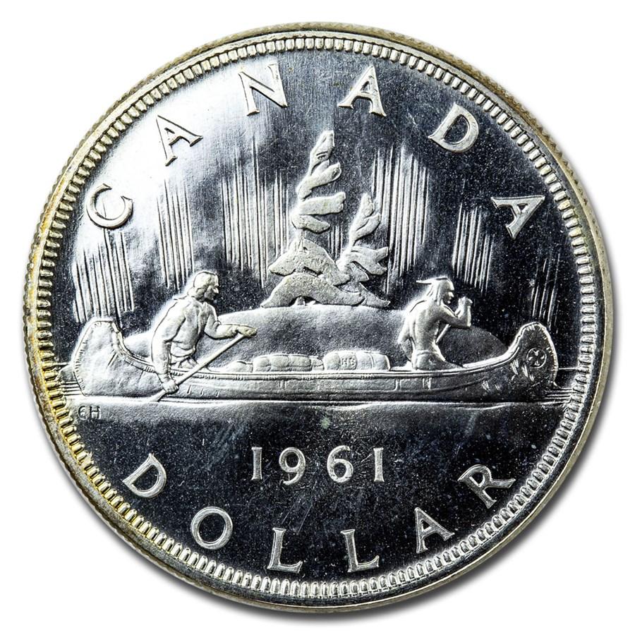 1961 Canada Silver Dollar BU/Prooflike