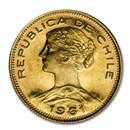 1961 Chile Gold 100 Pesos BU