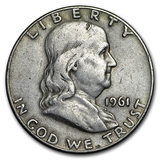 1961-D Franklin Half Dollar Fine/AU