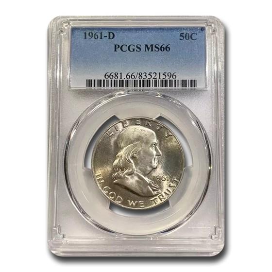 1961-D Franklin Half Dollar MS-66 PCGS
