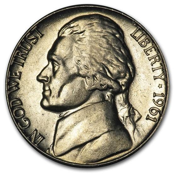 1961-D Jefferson Nickel BU