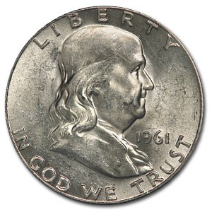1961 Franklin Half Dollar BU