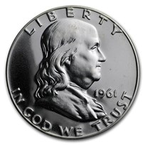 1961 Franklin Half Dollar Gem Proof