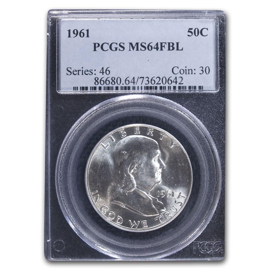 1961 Franklin Half Dollar MS-64 PCGS (FBL)