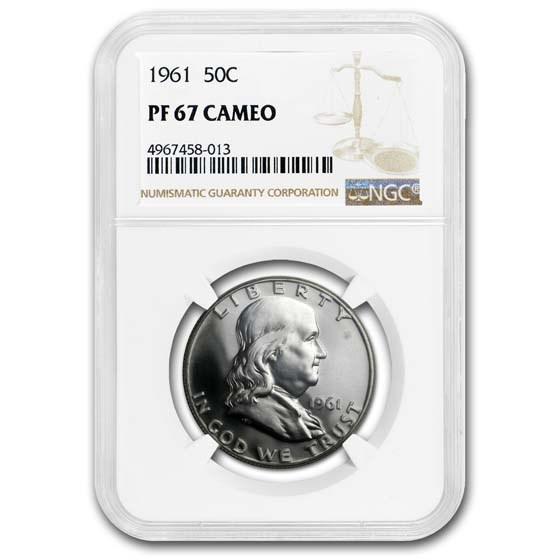 1961 Franklin Half Dollar PF-67 CAM NGC