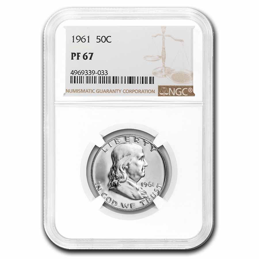 PF67-1963 Franklin 90/% Silver Half Dollar NGC  Blast White PROOF From Set
