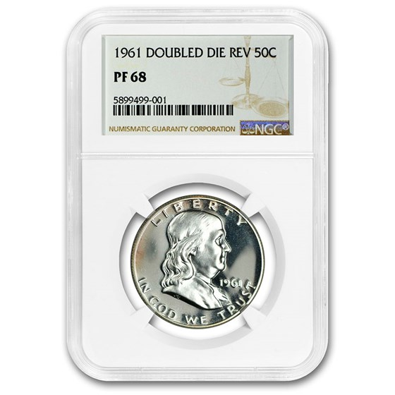 1961 Franklin Half Dollar PF-68 NGC (Doubled Die Reverse)