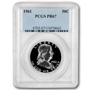 1961 Franklin Half Dollar PR-67 PCGS