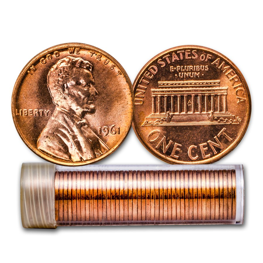 1961 Lincoln Cent 50-Coin Roll BU