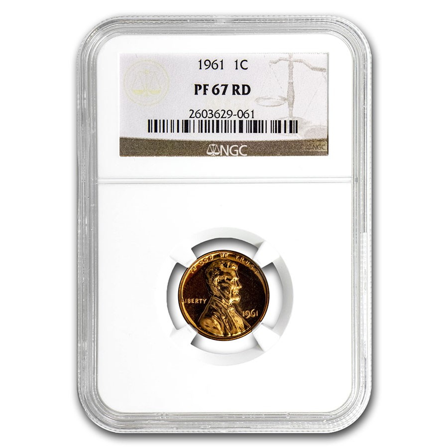 1961 Lincoln Cent PF-67 NGC (Red)