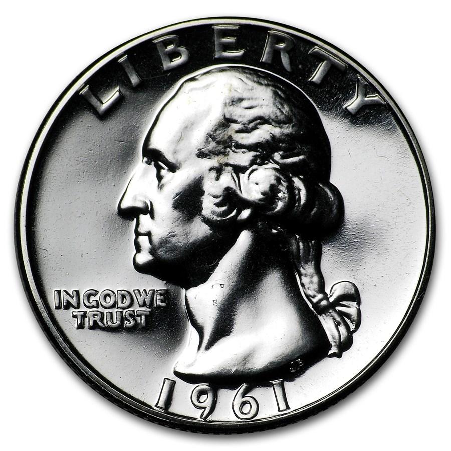 1961 Washington Quarter Gem Proof