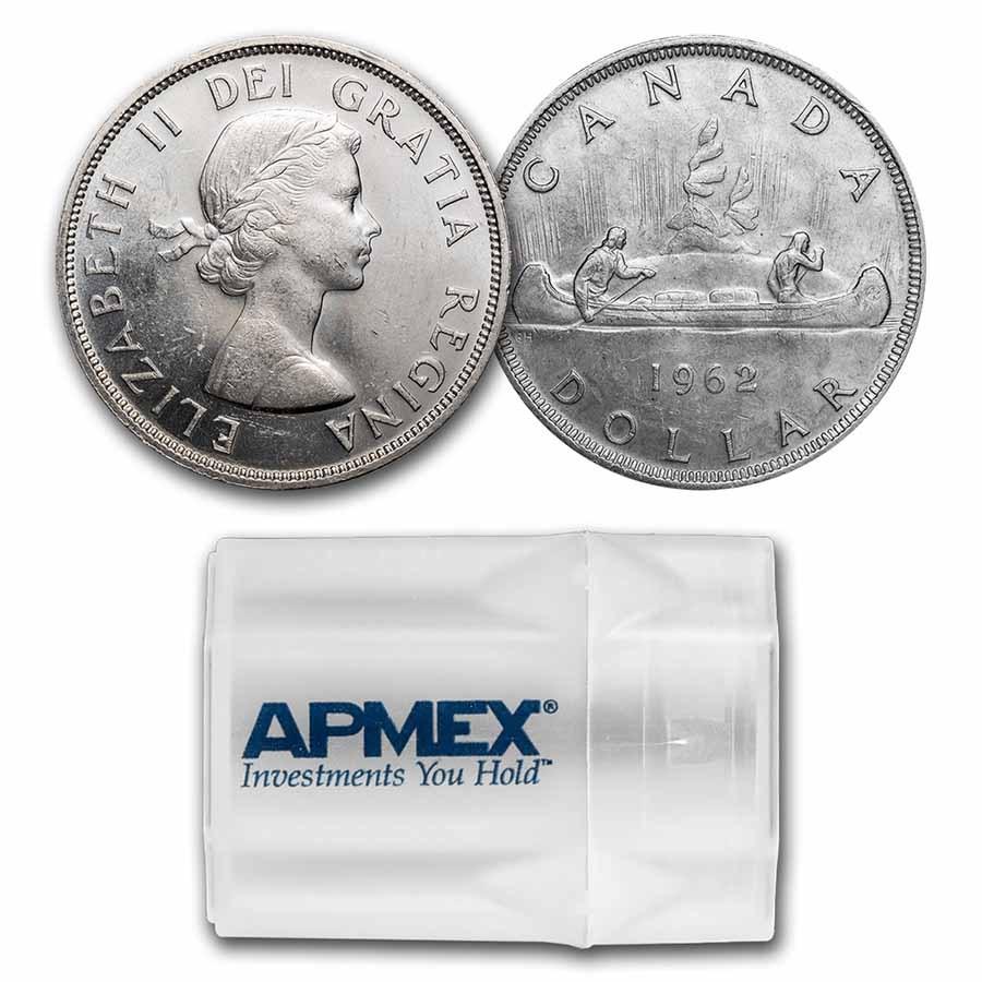1962 Canada Silver Dollar BU (20 Count Roll)