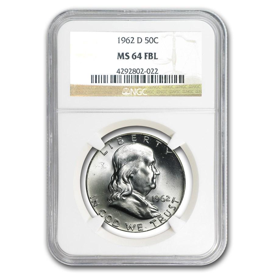 1962-D Franklin Half Dollar MS-64 NGC (FBL)