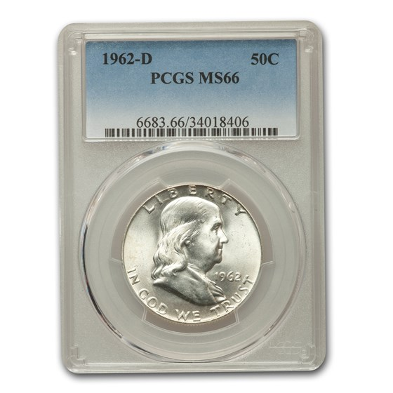 1962-D Franklin Half Dollar MS-66 PCGS
