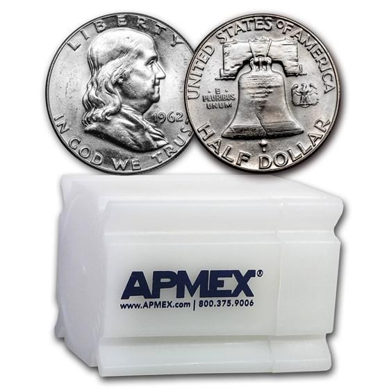 1962 Franklin Half Dollar 20-Coin Roll BU