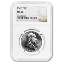 1962 Franklin Half Dollar MS-64 NGC