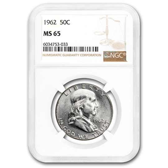 1962 Franklin Half Dollar MS-65 NGC