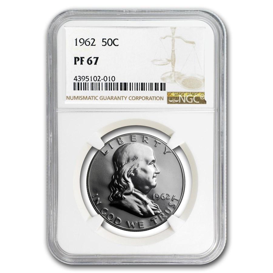 1962 Franklin Half Dollar PF-67 NGC