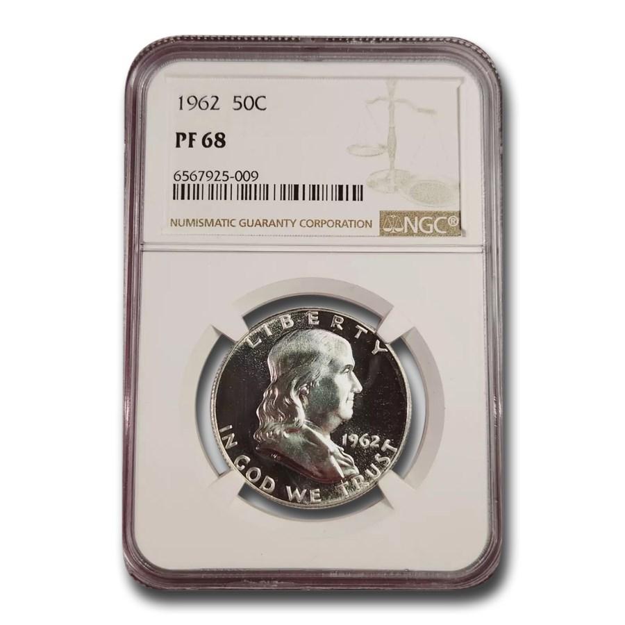 1962 Franklin Half Dollar PF-68 NGC