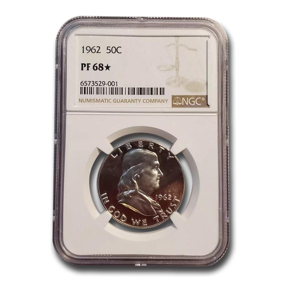 1962 Franklin Half Dollar PF-68* NGC