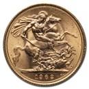 1962 Great Britain Gold Sovereign Elizabeth II BU