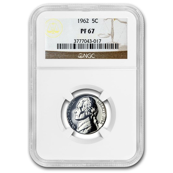 1962 Jefferson Nickel PF-67 NGC