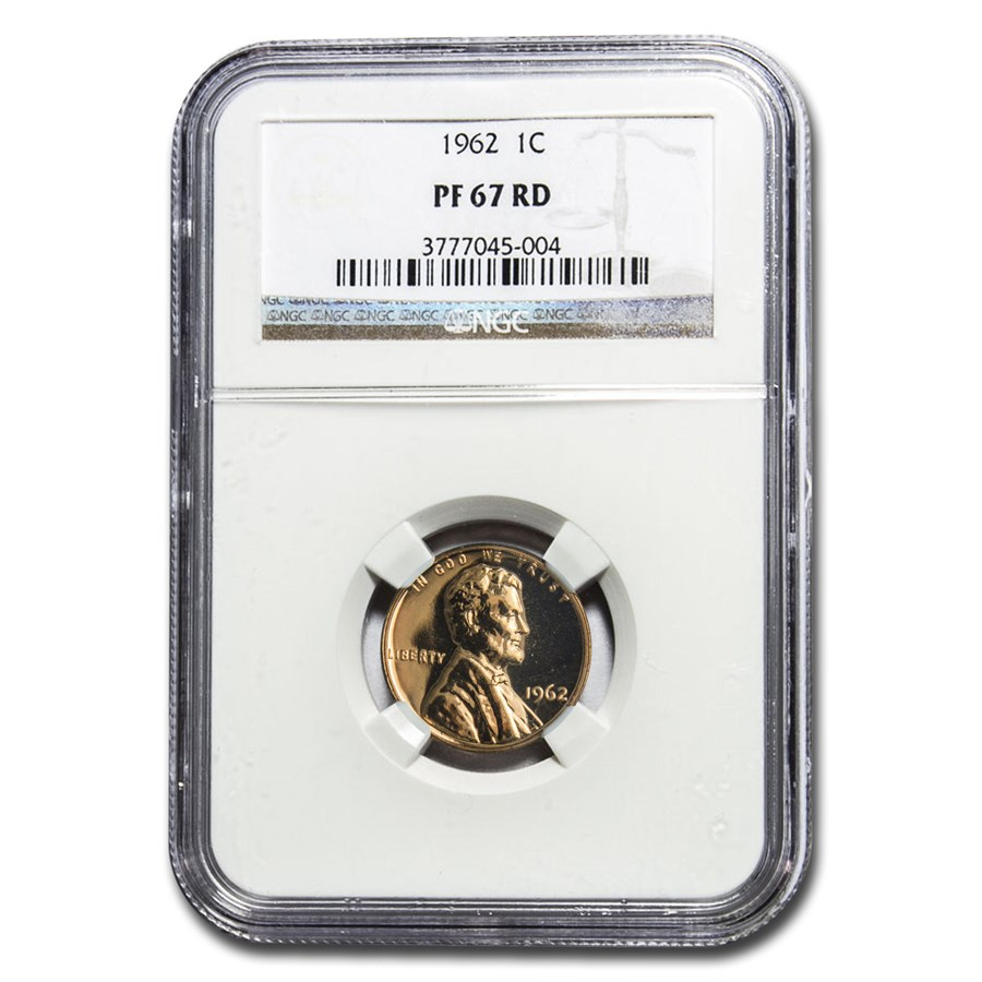 1962 Lincoln Cent PF-67 NGC (Red)