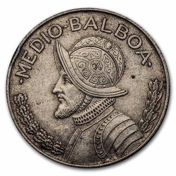 1962 Panama Silver 1/4 Balboa Avg Circ