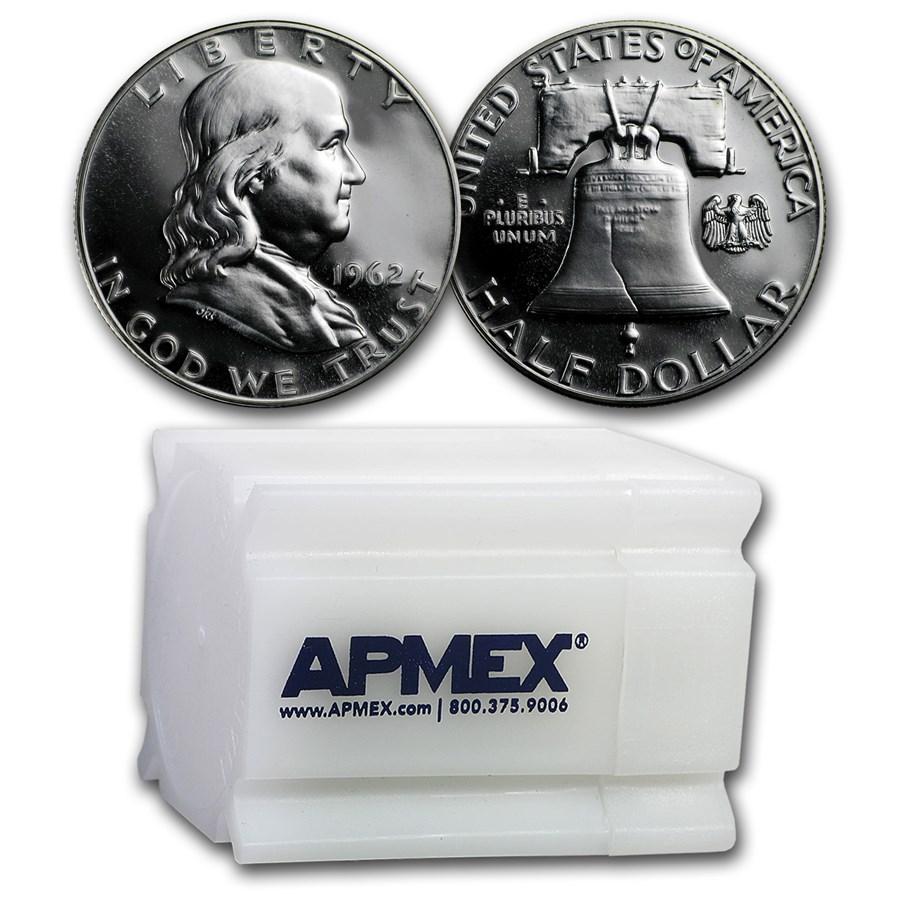 1962 Proof Franklin Half Dollar 20-Coin Roll