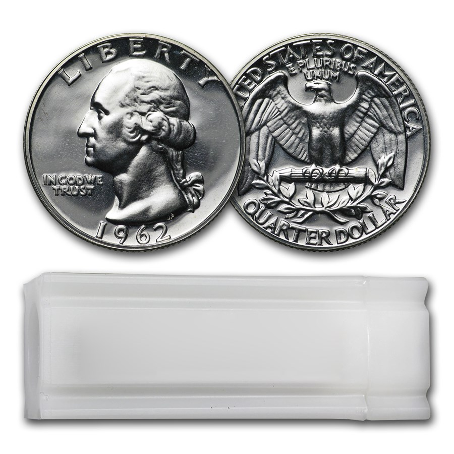 1962 Proof Washington Quarter 40-Coin Roll