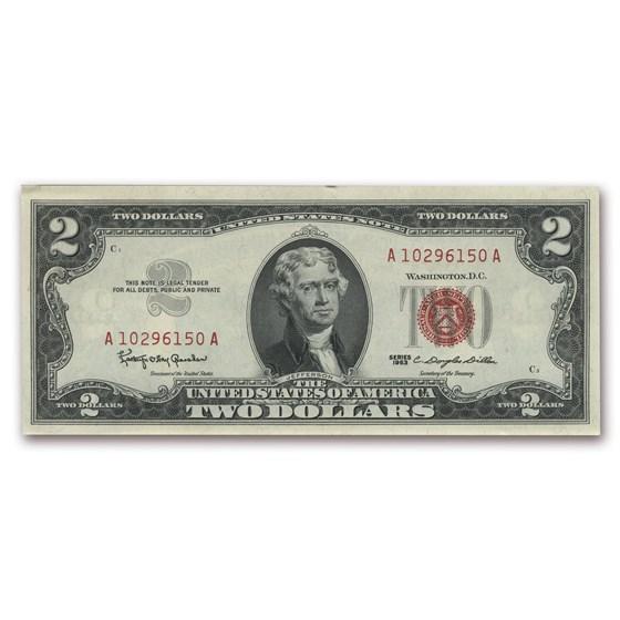 1963 $2.00 U.S. Note Red Seal CCU (Fr#1513)