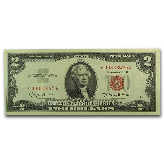 1963-A* $2.00 U.S. Note Red Seal XF/AU