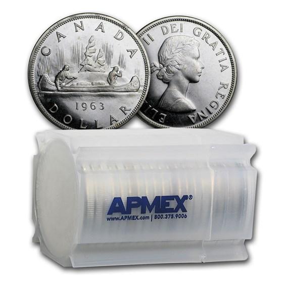 1963 Canada Silver Dollar BU (20 Count Roll)
